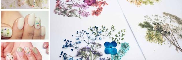 ♥ 花朵系女孩最愛!人氣優雅款「押花指彩」