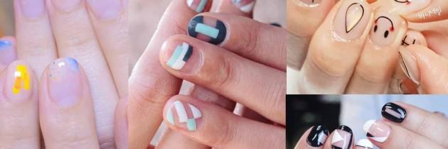 ♥ 指甲的空白格。簡約留白的美