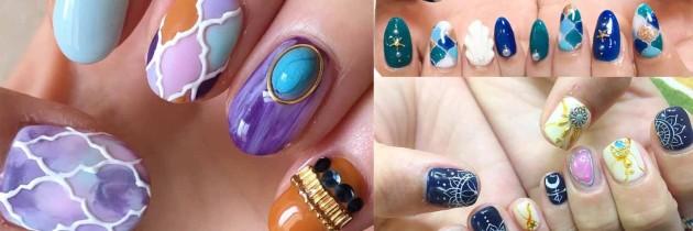 ♥ 每一筆畫的都是手工!摩洛哥陶磚彩繪指甲