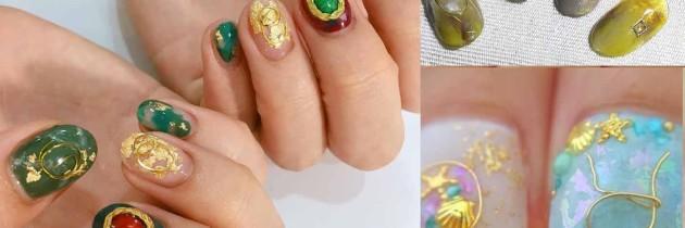 ♥ 金銀線的纏繞!鐵線凝膠指甲藝術